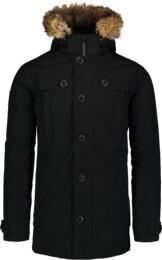 Čierny pánsky páperový kabát STUD - NBWJM6919