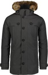 Šedý pánsky páperový kabát STUD - NBWJM6919