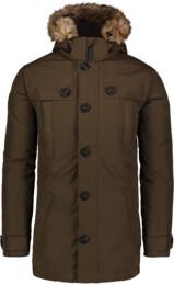Zelený pánsky páperový kabát STUD - NBWJM6919