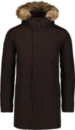 Hnedý pánsky páperový kabát RELY - NBWJM6920