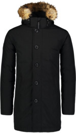 Čierny pánsky páperový kabát RELY