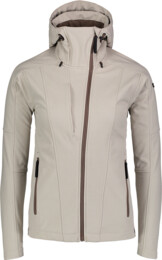 Béžová dámska zateplená softshellová bunda WAGER - NBWSL6997