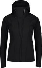 Čierna dámska zateplená softshellová bunda WAGER - NBWSL6997