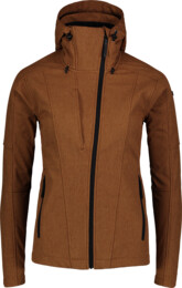 Women's brown softshell jacket with fleece WAGER - NBWSL6997