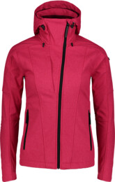 Women's pink softshell jacket with fleece WAGER - NBWSL6997