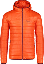 Men's orange quilted jacket LEASH - NBWJM6914