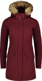 Vínový dámský zimní kabát PROFUSE