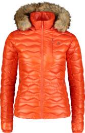 Oranžová dámská zimní bunda COLLATE