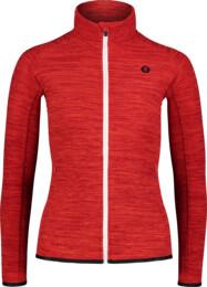 Piros női fleece melegítőfelső FLATTEN
