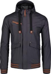 Jachetă ușoară neagră de primăvară pentru bărbați PARTAKE