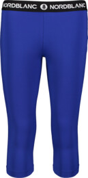 Modré dámske 3/4 fitness legíny TENUITY - NBSPL7185