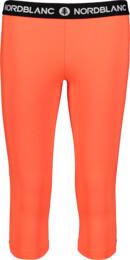 Oranžové dámske 3/4 fitness legíny TENUITY - NBSPL7185