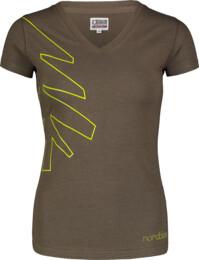 Zelené dámské bavlněné tričko CONIFER - NBSLT7242