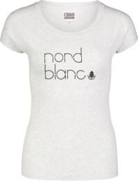 Šedé dámské bavlněné tričko MODISH