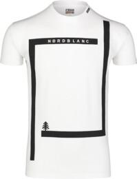 Bílé pánské bavlněné tričko ENFRAME - NBSMT7255