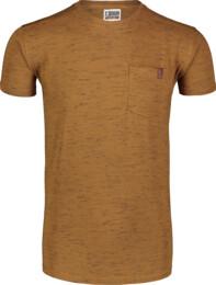 Hnedé pánske bavlnené tričko ANNEAL - NBSMT7261