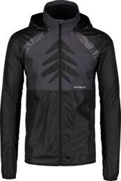 Fekete férfi ultrakönnyű kerékpáros dzeki/kabát SUBSIST