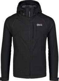 Men's black light softshell jacket 2in1 WISE