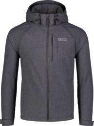 Men's grey light softshell jacket 2in1 WISE