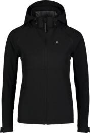 Jachetă ușoară neagră softshell 2 în 1 pentru femei DISPENSE