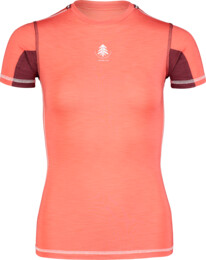 Women's red baselayer light t-shirt PLANT - NBBLU7100