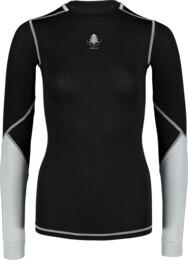 Fekete női könnyű thermo trikó WIMPLE