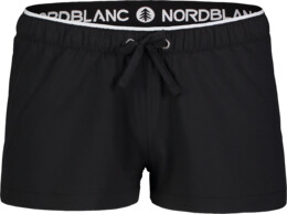 Women's black jogging shorts FLOUNCE - NBSPL7205