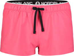 Růžové dámské šortky na běhání FLOUNCE - NBSPL7205