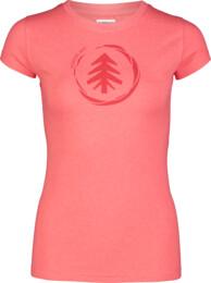 Červené dámske bavlnené tričko MEDAL - NBSLT7236