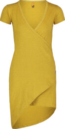 Women's yellow elastic dress LAVE - NBSLD7239