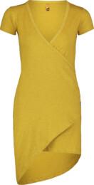Žluté dámské elastické šaty LAVE - NBSLD7239