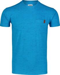 Modré pánske bavlnené tričko ANNEAL - NBSMT7261