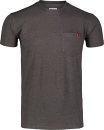 Šedé pánske bavlnené tričko ANNEAL - NBSMT7261