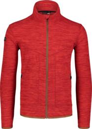 Červená pánska ľahká fleecová mikina EDIFY - NBSFM7148