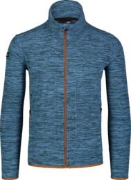 Modrá pánska ľahká fleecová mikina EDIFY - NBSFM7148