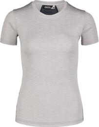 Šedé dámské tričko na běhání VIGOROUS - NBSLF7200