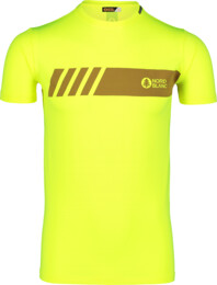 Men's yellow fitness t-shirt ELUSIVE - NBSMF7222