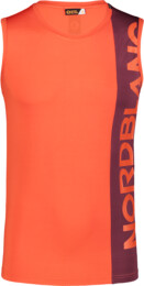 Men's orange fitness tank top THEWS - NBSMF7219