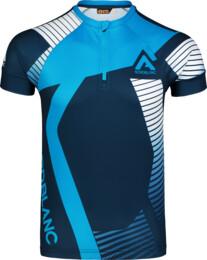 Modrý pánský cyklo dres ENGRAINED - NBSMF7195