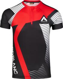 Červený pánský cyklo dres ENGRAINED - NBSMF7195