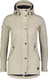 Women's beige softshell parka with fleece LIGHTEN