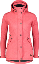 Women's red softshell parka with fleeceLIGHTEN - NBWSL7175