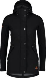 Women's black softshell parka with fleece LIGHTEN