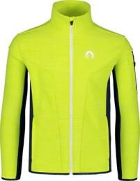 Men's green double fleece jacket SILENT