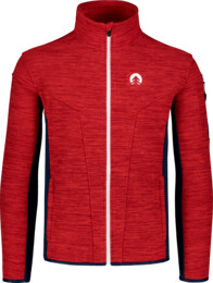 Červená pánská double fleecová mikina SILENT