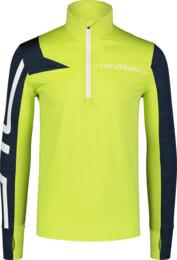 """Hanorac din fleece verde cu tehnologia """"Power Fleece"""" pentru bărbați LABOR - NBWFM7354"""