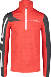 Bluză roșie power fleece pentru bărbați LABOR - NBWFM7354