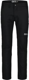 Men's black softshell pants with fleece STABILIZE - NBFPM7369
