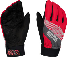 Red softshell gloves POINETR - NBWG6360