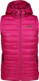 Růžová dětská zimní vesta MERRY - NBWJK6591S